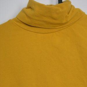 American Apparel Turtleneck Mustard Top
